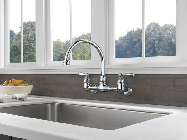 P299305LF - Two Handle Wall Mounted Kitchen Faucet