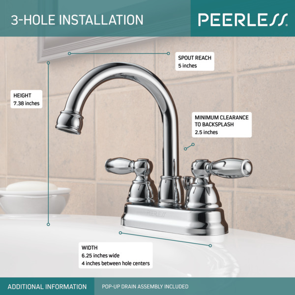 PORTER®Two Handle Centerset Bathroom