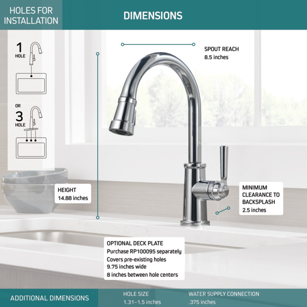 P7923lf Single Handle Pull Down Kitchen Faucet