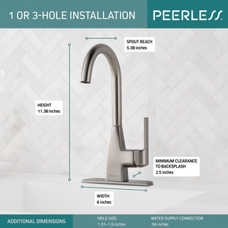 P1819lf Ss Single Handle Bar Faucet