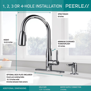 P188103lf Sd Single Handle Kitchen Pull Down With Soap