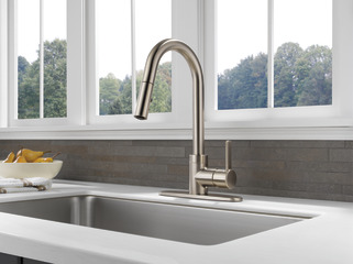 P188152lf Ss Single Handle Pull Down Kitchen Faucet