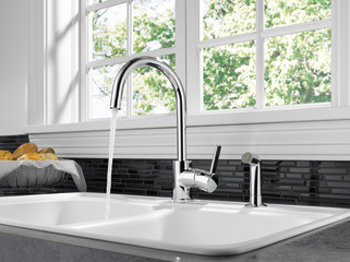 P199152lf Single Handle Kitchen Faucet With Spray