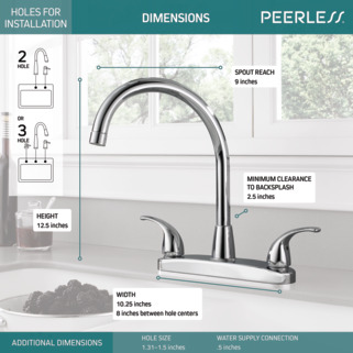 P299568lf Two Handle Kitchen Faucet