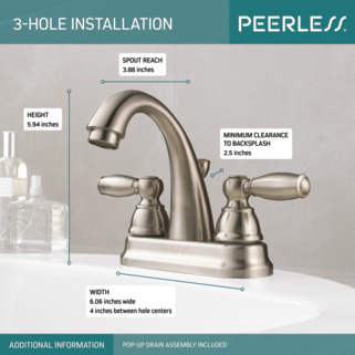 P299696lf Bn Two Handle Bathroom Faucet
