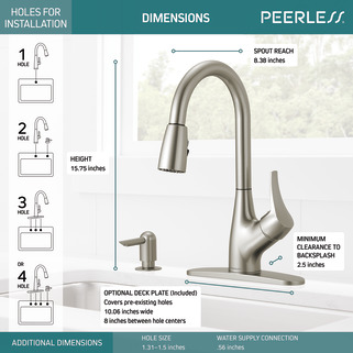 P7901lf Sssd W Single Handle Pull Down Kitchen Faucet