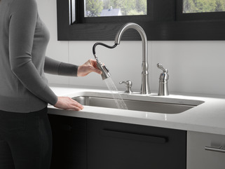 P88105lf Sssd Single Handle Pull Down Kitchen Faucet