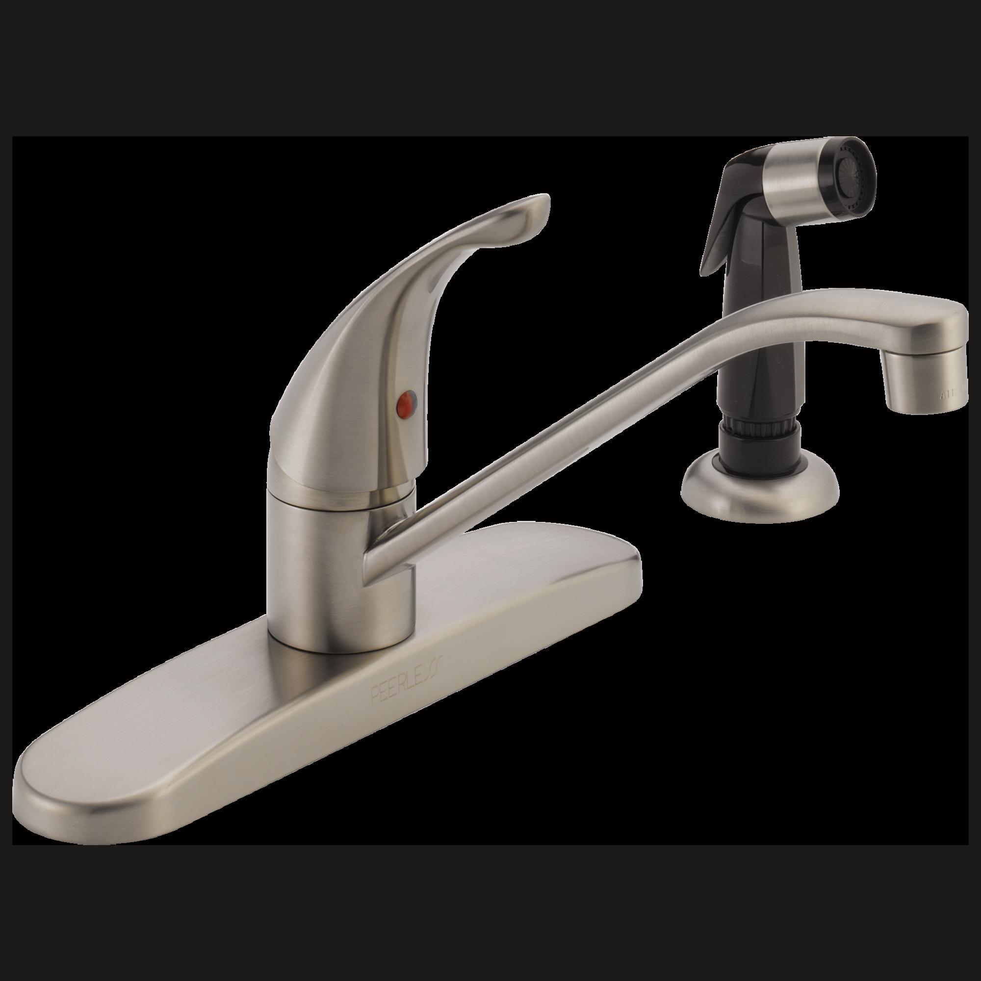 peerless p115lf ss classic  single handle kitchen faucet