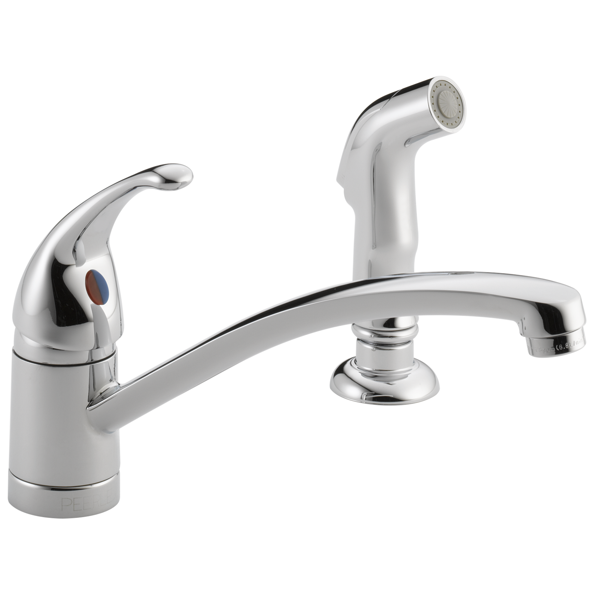 single handle kitchen faucet with matching side spray