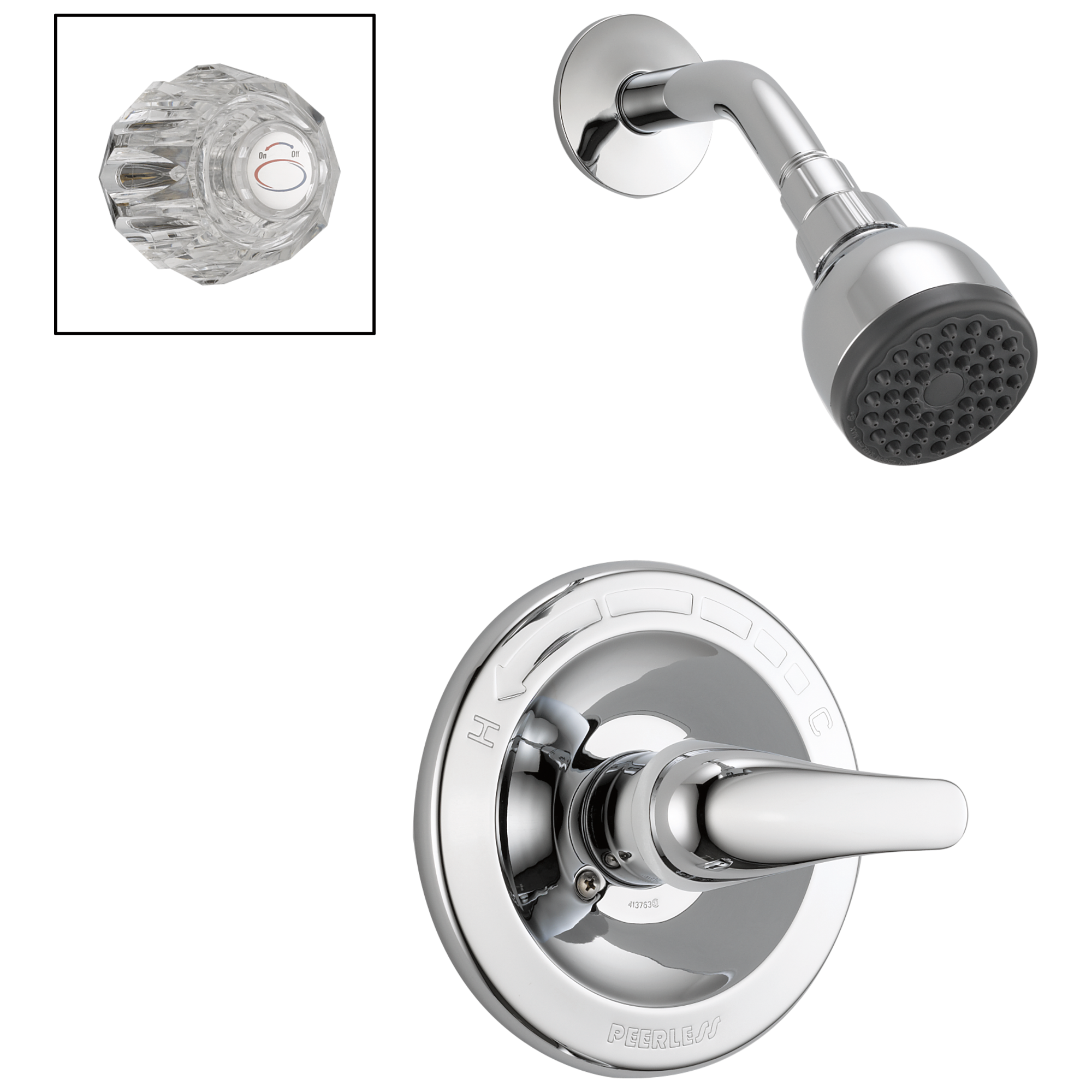 Shower Only Complete Combo HandlesTub   Shower . 2 Knob Shower Faucet. Home Design Ideas