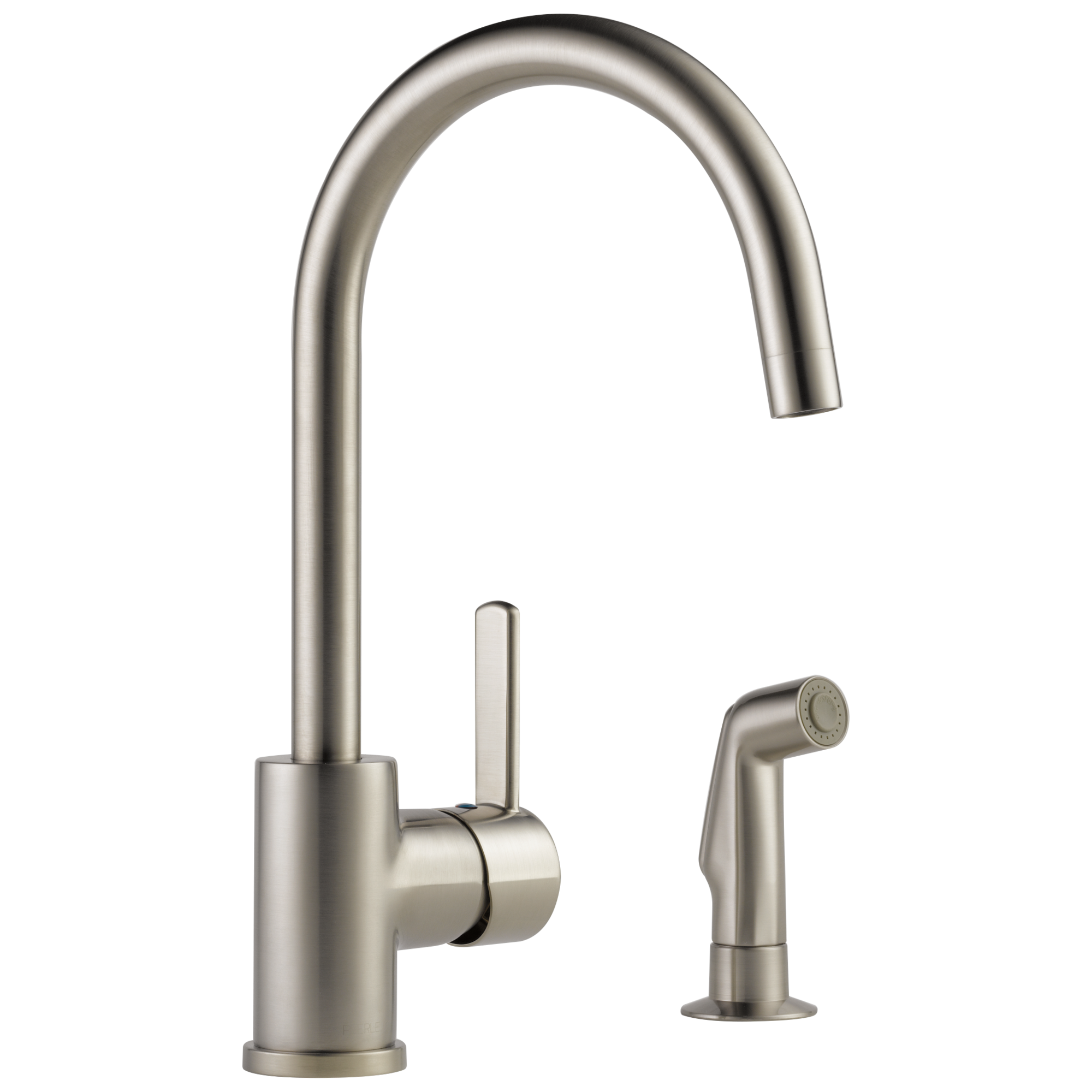p199152lf ss single handle kitchen faucet with spray