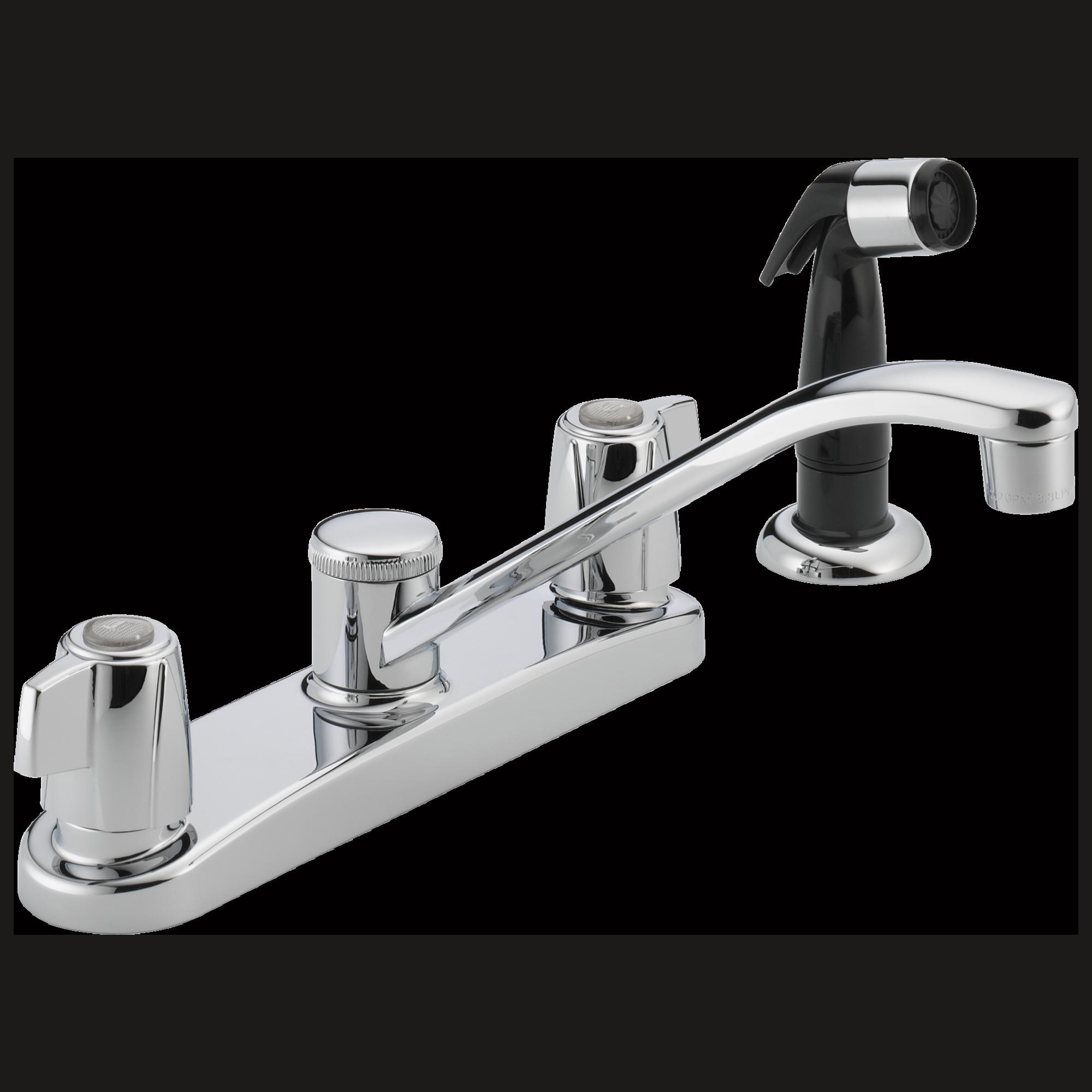 Double Handle Kitchen Faucet P226lf Two Handle Kitchen Faucet