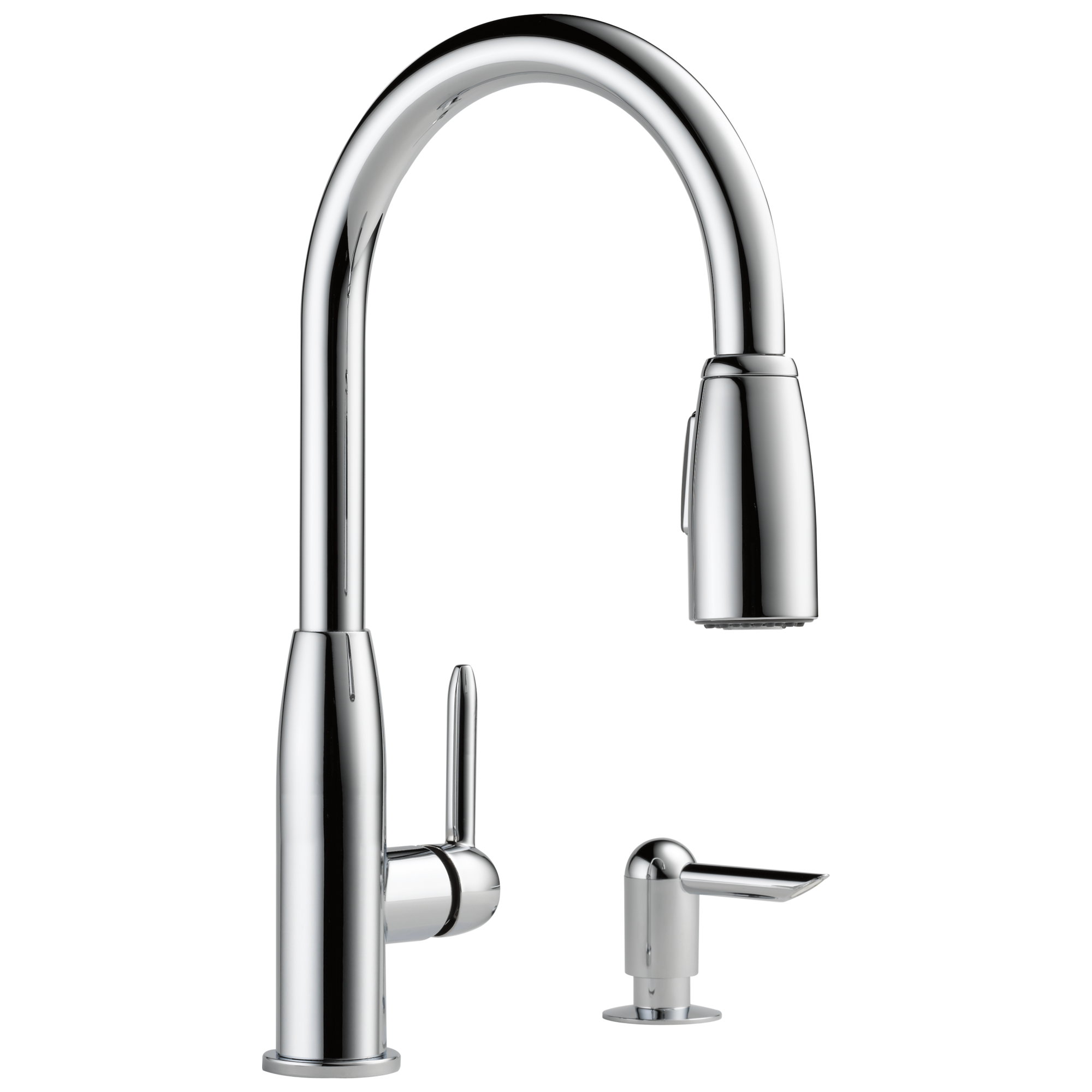 P88103LF-SD-L - Kitchen Single Handle Pull-Down Faucet