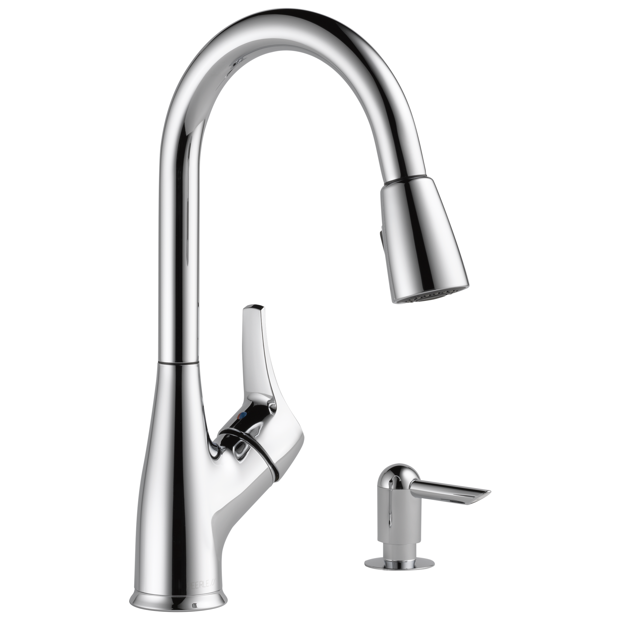 p88121lf sd w single handle pull down kitchen faucet with soap