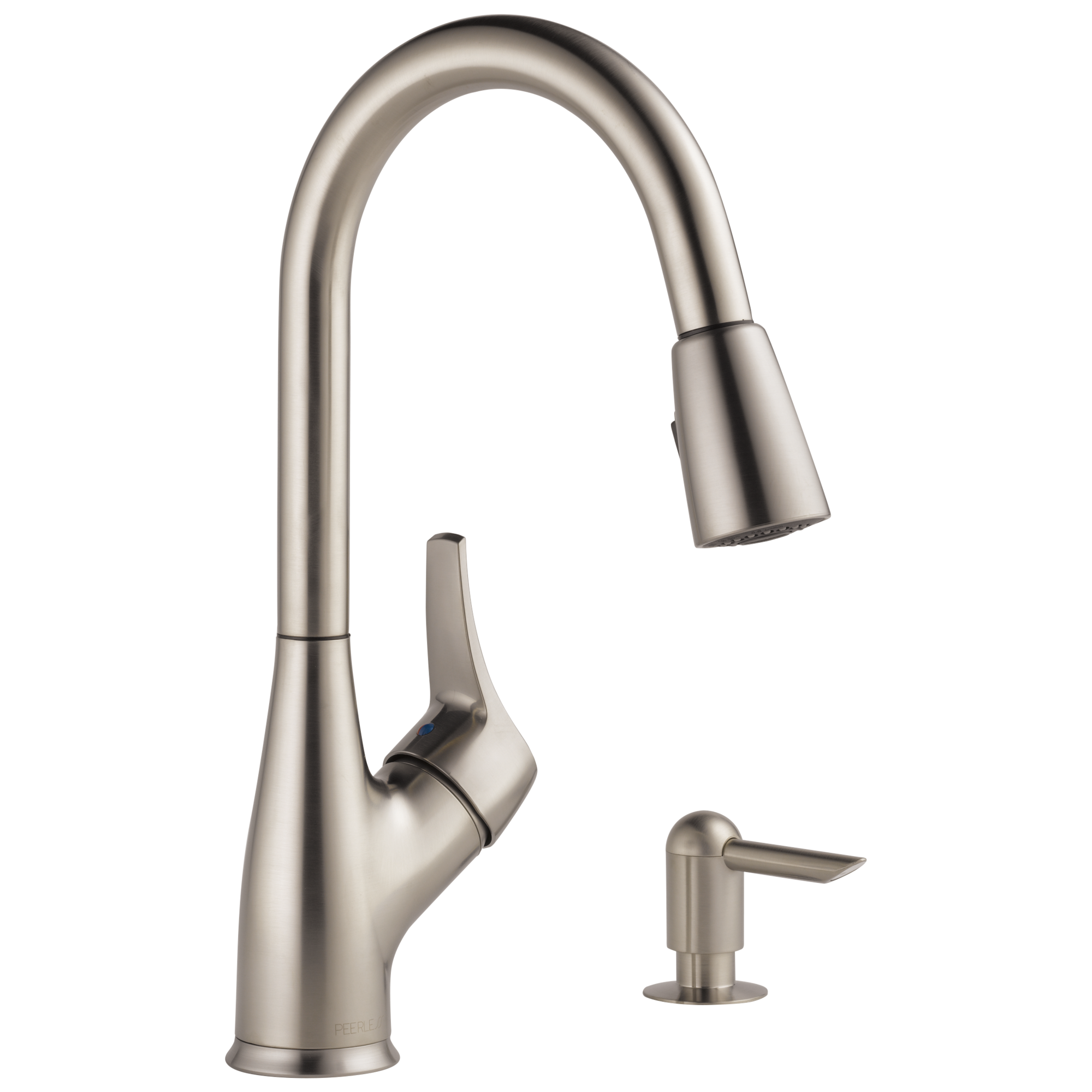 P LF SSSD W Single Handle Pull Down Kitchen Faucet with Soap