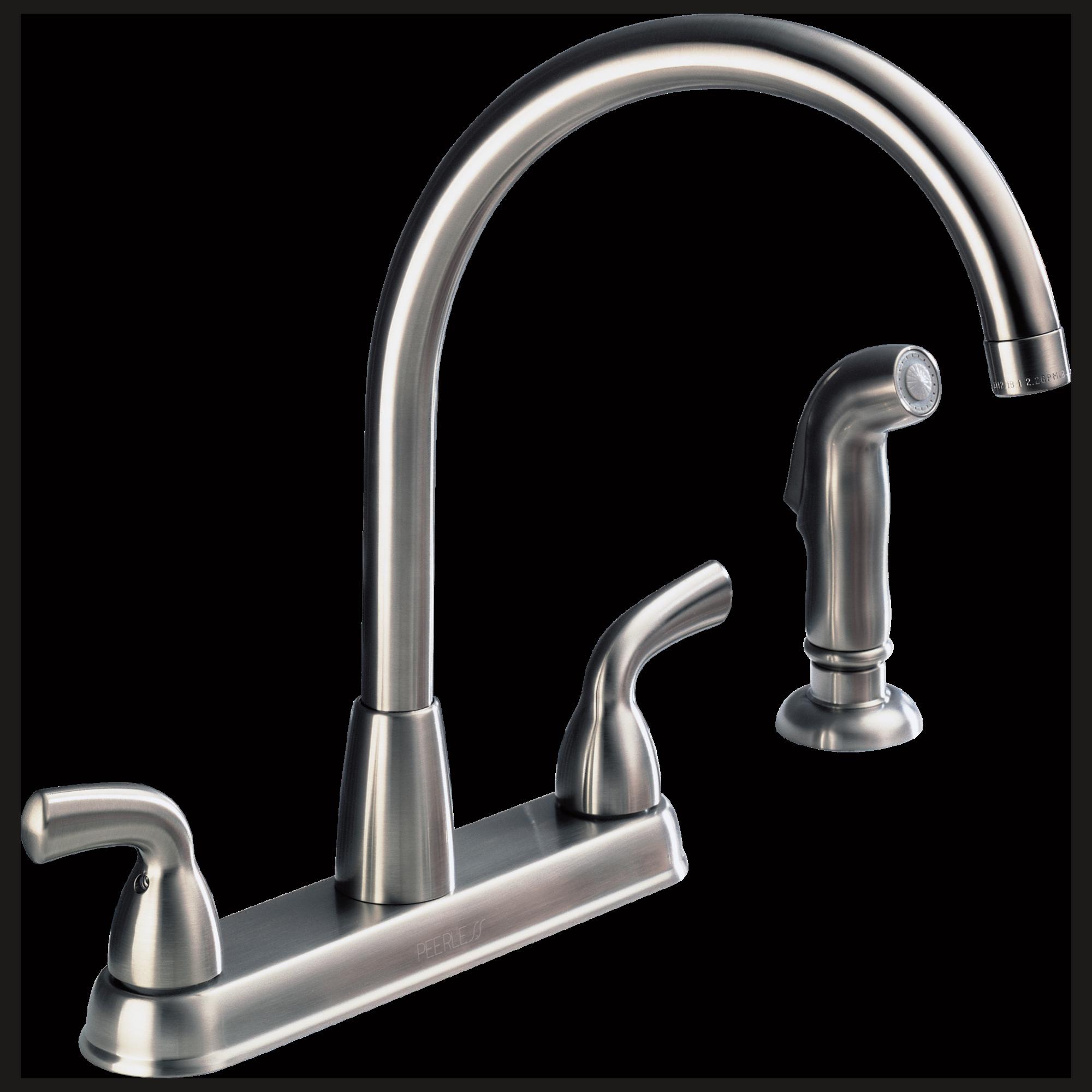Double Handle Kitchen Faucet P99578 Ss Two Handle Kitchen Faucet