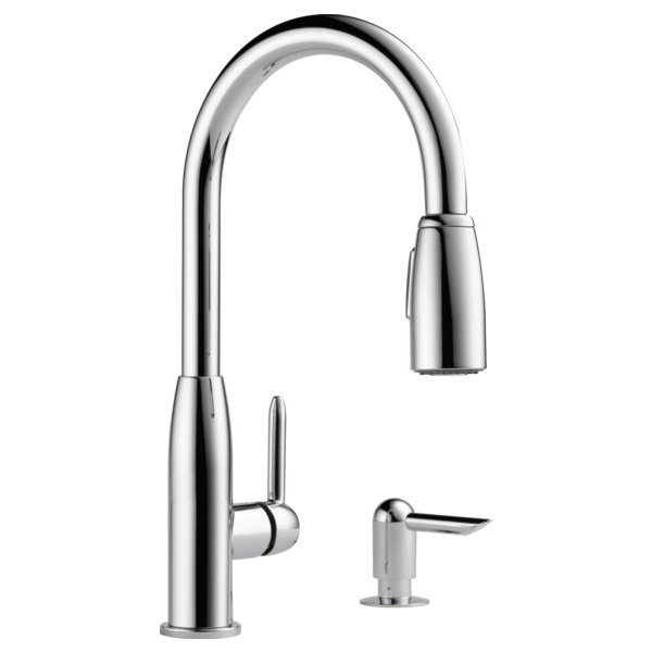 P188103lf Sd Single Handle Kitchen Pull Down With Soap Dispenser