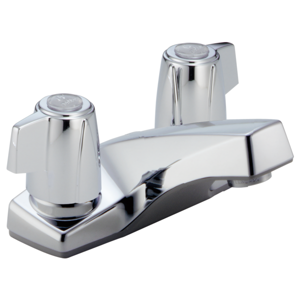 P41lf two handle centerset lavatory faucet less pop up for Bathroom faucets for less