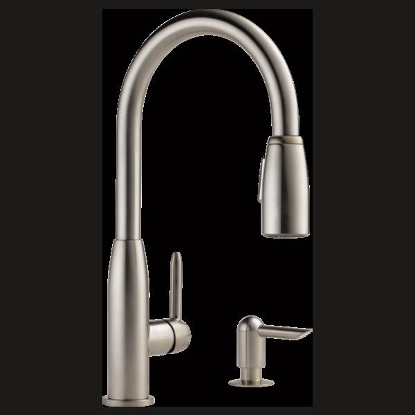 P88103lf Sssd L Kitchen Single Handle Pull Down Faucet