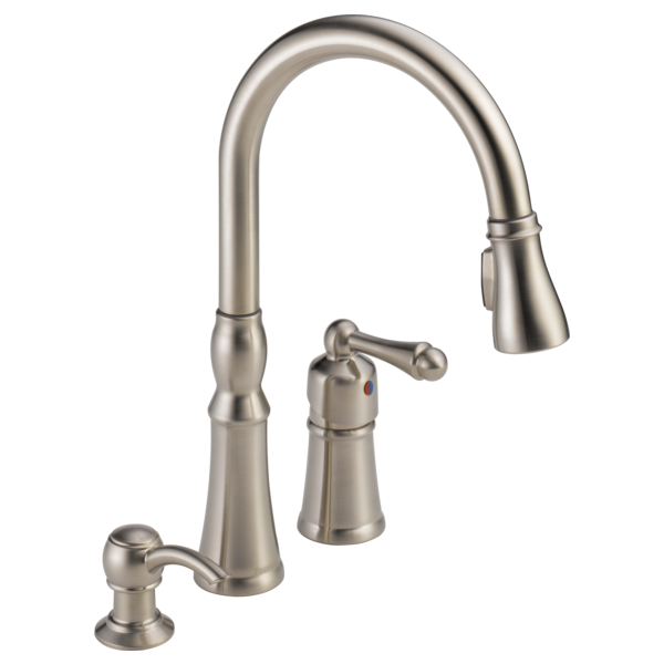 Superbe Single Handle Pull Down Kitchen Faucet