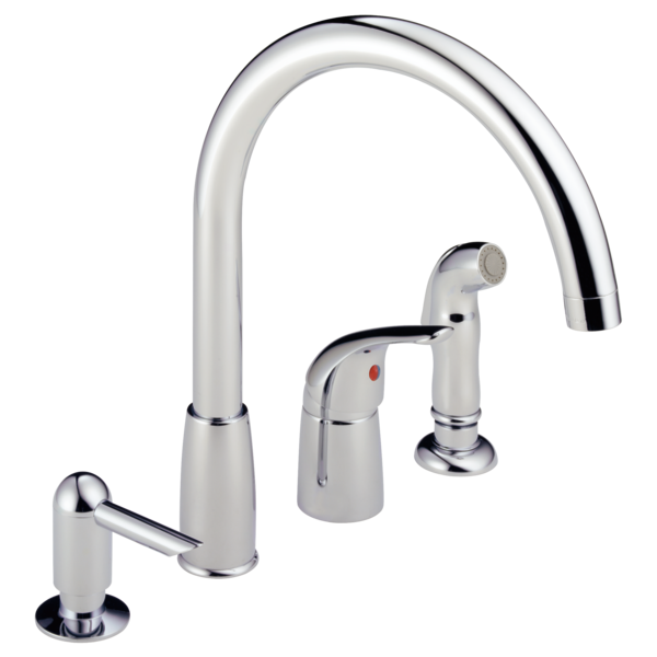 P88900lf Single Handle Widespread Kitchen Faucet
