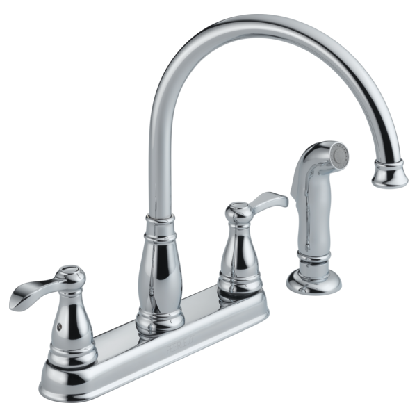 P99500lf Two Handle Kitchen Faucet With Spray