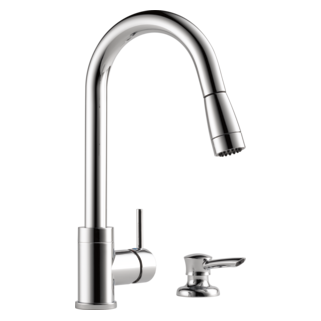Ordinaire PEERLESS Integrated Pull Down Kitchen Faucet With Soap Dispenser