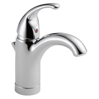 Single Handle Bathroom Faucet with Transitional Lever