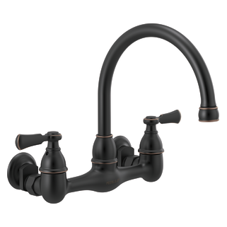 Two-handle wall-mount kitchen faucet