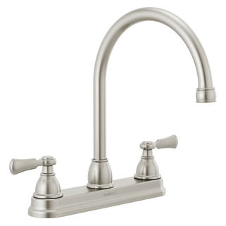 Two-Handle Kitchen Faucet with Twist Aerator
