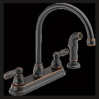 P299575LF-OB Two Handle Kitchen Faucet