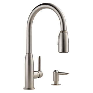 kitchen single handle pulldown faucet